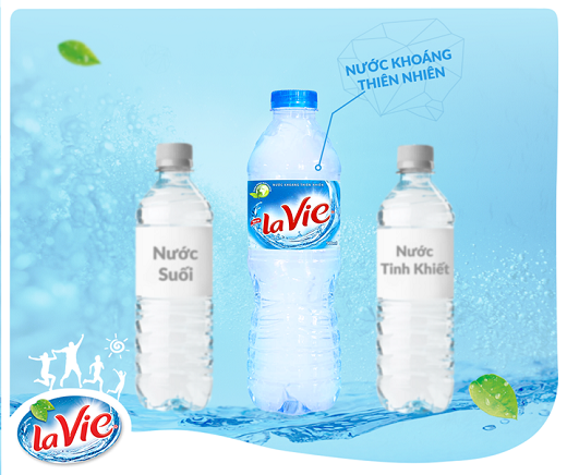 Nước khoáng Lavie thương hiệu cho sức khỏe